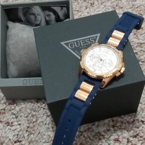 Accessories - Guess blue watch new with box